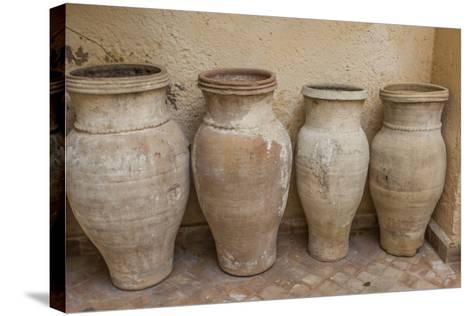 Antiques Clay Water Pots Decorate the Entrance to Le Jardin Des Biehn-Richard Nowitz-Stretched Canvas Print