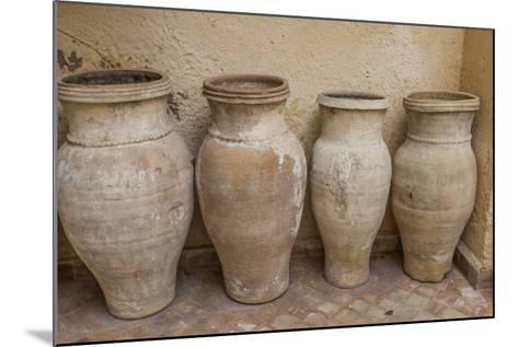 Antiques Clay Water Pots Decorate the Entrance to Le Jardin Des Biehn-Richard Nowitz-Mounted Photographic Print