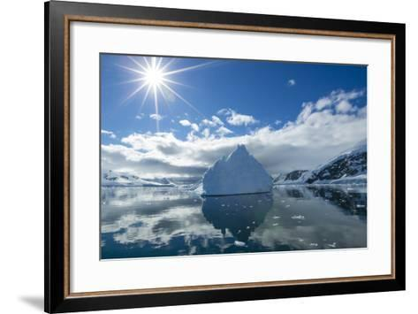 Reflections of Icebergs on Water in Niko Harbor, Antarctica-Ralph Lee Hopkins-Framed Art Print