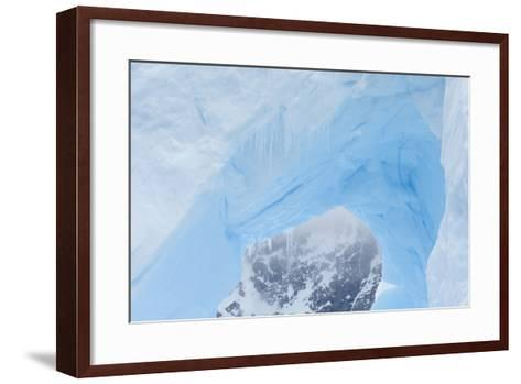 A Close Up of an Iceberg Near Cuverville Island, Antarctica-Ralph Lee Hopkins-Framed Art Print