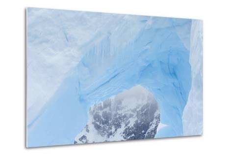 A Close Up of an Iceberg Near Cuverville Island, Antarctica-Ralph Lee Hopkins-Metal Print
