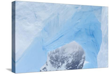 A Close Up of an Iceberg Near Cuverville Island, Antarctica-Ralph Lee Hopkins-Stretched Canvas Print