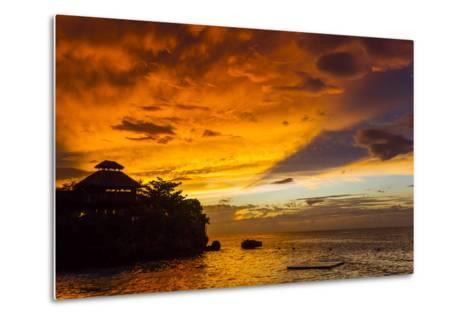 A Fiery Sky During a Dramatic Sunset in Ocho Rios, Jamaica-Mike Theiss-Metal Print