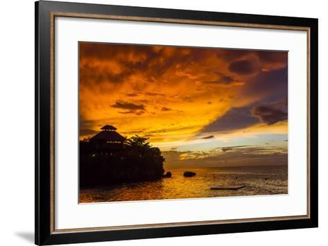 A Fiery Sky During a Dramatic Sunset in Ocho Rios, Jamaica-Mike Theiss-Framed Art Print
