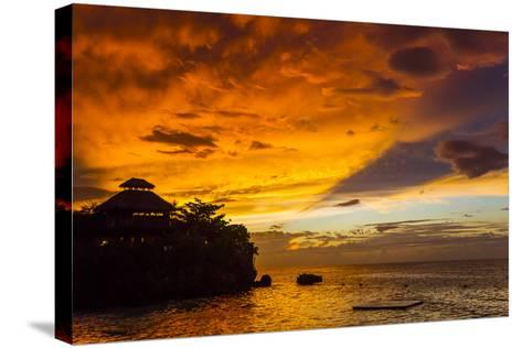A Fiery Sky During a Dramatic Sunset in Ocho Rios, Jamaica-Mike Theiss-Stretched Canvas Print