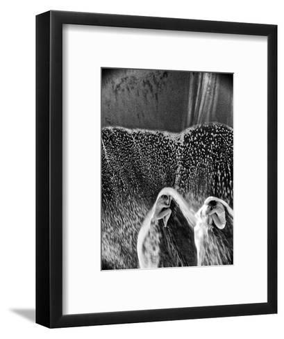 Two Dancers in the Surf on a Remote Beach at Tortuguero National Park-Kike Calvo-Framed Art Print