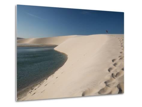 A Sand Dune Near Jericoacoara, Brazil-Alex Saberi-Metal Print