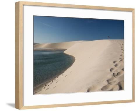 A Sand Dune Near Jericoacoara, Brazil-Alex Saberi-Framed Art Print