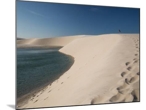 A Sand Dune Near Jericoacoara, Brazil-Alex Saberi-Mounted Photographic Print