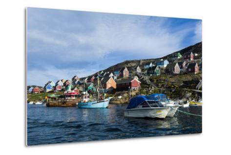 Fishing Boast in the Quiet Harbor of a Village on an Arctic Island-Jason Edwards-Metal Print