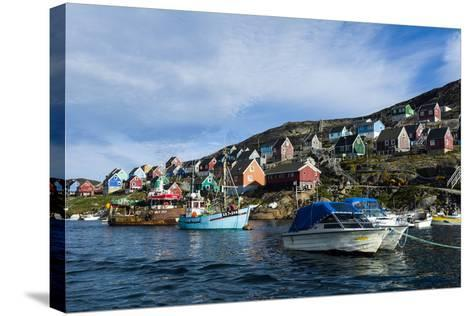 Fishing Boast in the Quiet Harbor of a Village on an Arctic Island-Jason Edwards-Stretched Canvas Print
