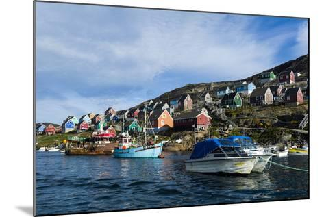 Fishing Boast in the Quiet Harbor of a Village on an Arctic Island-Jason Edwards-Mounted Photographic Print