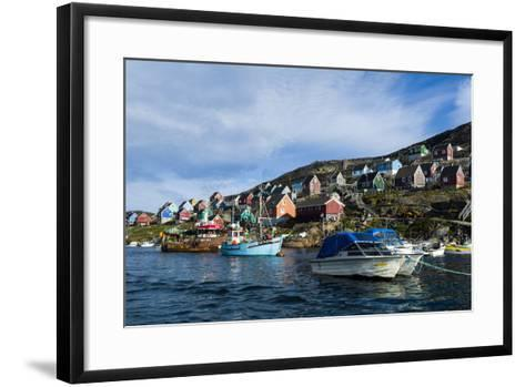 Fishing Boast in the Quiet Harbor of a Village on an Arctic Island-Jason Edwards-Framed Art Print