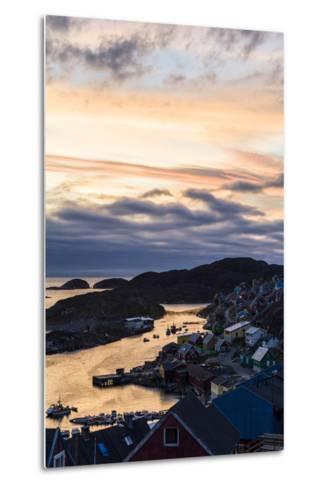 Sunset Falls over an Arctic Fishing Village on a Rugged Island-Jason Edwards-Metal Print