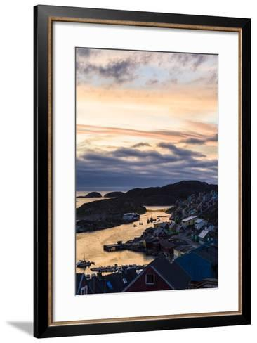 Sunset Falls over an Arctic Fishing Village on a Rugged Island-Jason Edwards-Framed Art Print