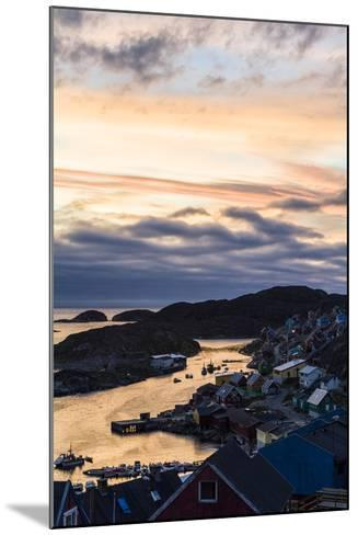 Sunset Falls over an Arctic Fishing Village on a Rugged Island-Jason Edwards-Mounted Photographic Print
