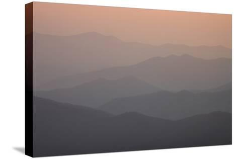 A View of Great Smoky Mountains National Park from Clingman's Dome-Phil Schermeister-Stretched Canvas Print