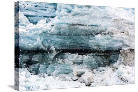 Crushed and Tortured Ice in the Cliff of a Glacier Fracture Zone-Jason Edwards-Stretched Canvas Print