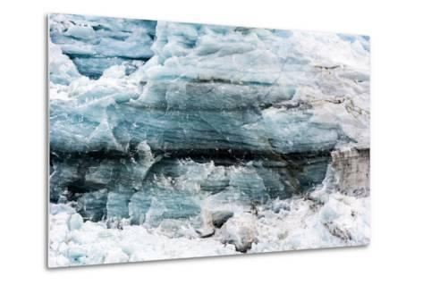 Crushed and Tortured Ice in the Cliff of a Glacier Fracture Zone-Jason Edwards-Metal Print