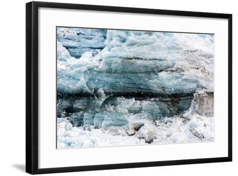 Crushed and Tortured Ice in the Cliff of a Glacier Fracture Zone-Jason Edwards-Framed Art Print