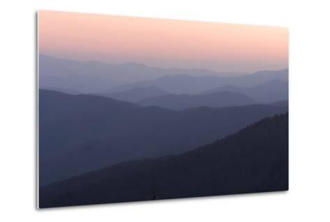 A View of Great Smoky Mountains National Park from Clingman's Dome-Phil Schermeister-Metal Print