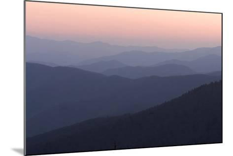 A View of Great Smoky Mountains National Park from Clingman's Dome-Phil Schermeister-Mounted Photographic Print