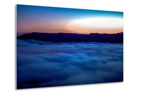 Fog Rolling in Off the Pacific Ocean in the Santa Monica Mountains-Ben Horton-Metal Print