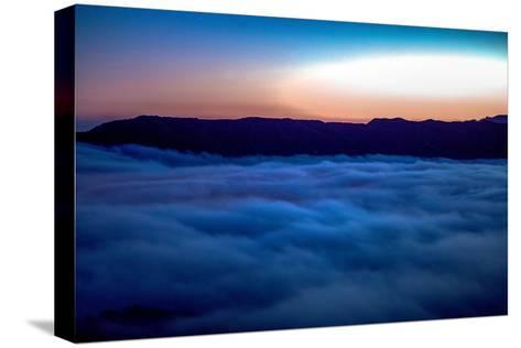 Fog Rolling in Off the Pacific Ocean in the Santa Monica Mountains-Ben Horton-Stretched Canvas Print