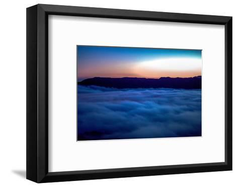 Fog Rolling in Off the Pacific Ocean in the Santa Monica Mountains-Ben Horton-Framed Art Print
