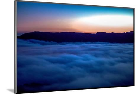Fog Rolling in Off the Pacific Ocean in the Santa Monica Mountains-Ben Horton-Mounted Photographic Print