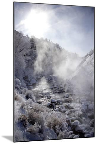 Steam Rising over the Snowy Banks of a Hot Spring-Robbie George-Mounted Photographic Print