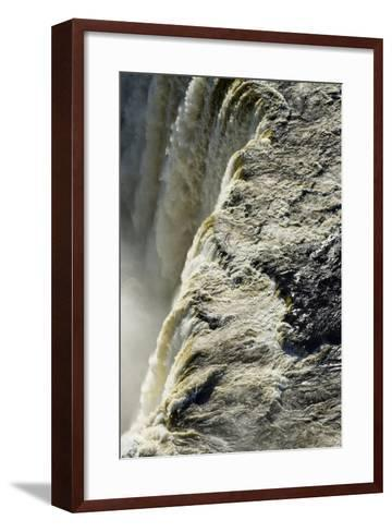 The Flooded Waters of the Zambezi River Pour over Victoria Falls, into the Cataract of First Gorge-Jason Edwards-Framed Art Print