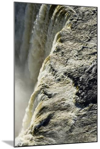The Flooded Waters of the Zambezi River Pour over Victoria Falls, into the Cataract of First Gorge-Jason Edwards-Mounted Photographic Print