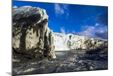 Erosion from Ice Against Rock Deposits Silt and Soil Sediment, Face of a Glacier Fracture Zone-Jason Edwards-Mounted Photographic Print