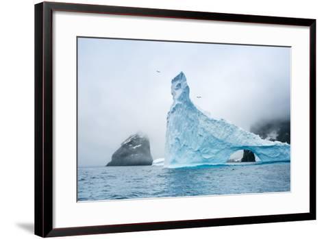 A Sculpted Iceberg Near Elephant Island, Antarctica-Ralph Lee Hopkins-Framed Art Print