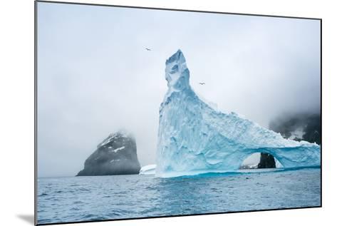 A Sculpted Iceberg Near Elephant Island, Antarctica-Ralph Lee Hopkins-Mounted Photographic Print