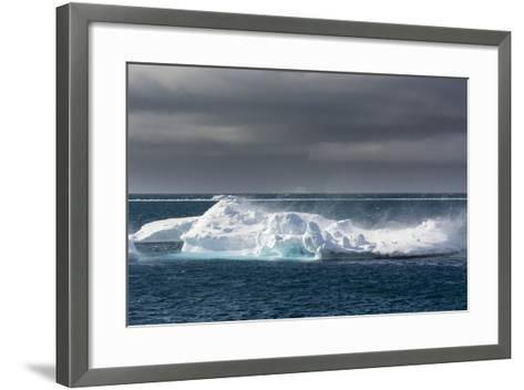Wind Blowing over the Top of an Iceberg-Sergio Pitamitz-Framed Art Print