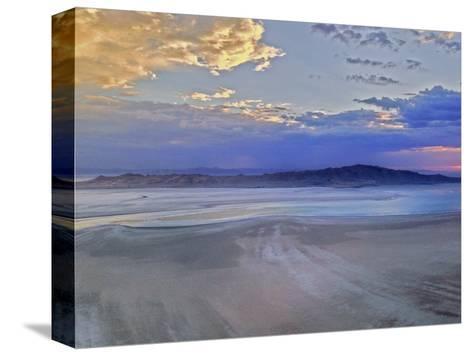 A Sunset Glows over Great Salt Lake and Antelope Island Near Salt Lake City, Utah-Gordon Wiltsie-Stretched Canvas Print