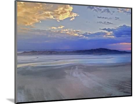 A Sunset Glows over Great Salt Lake and Antelope Island Near Salt Lake City, Utah-Gordon Wiltsie-Mounted Photographic Print