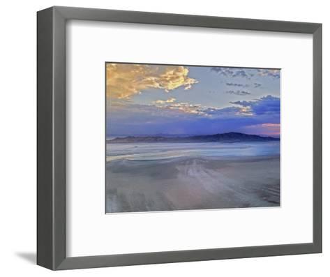 A Sunset Glows over Great Salt Lake and Antelope Island Near Salt Lake City, Utah-Gordon Wiltsie-Framed Art Print