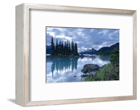 Battleship Islands in the Glacial Garibaldi Lake in Garibaldi Provincial Park-Paul Colangelo-Framed Art Print