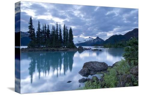 Battleship Islands in the Glacial Garibaldi Lake in Garibaldi Provincial Park-Paul Colangelo-Stretched Canvas Print