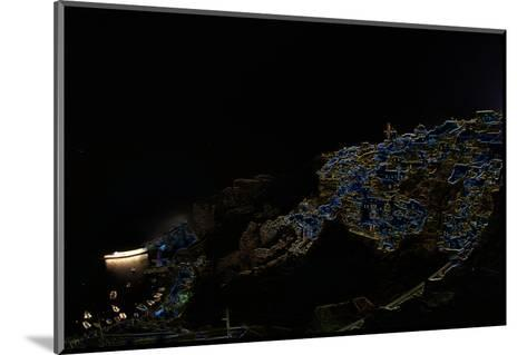 A Color Inverted Composite Image of Santorini Island at Night-Babak Tafreshi-Mounted Photographic Print
