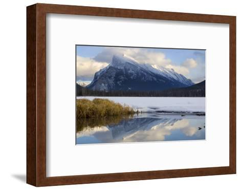Mount Rundle and Vermillion Lake in Banff National Park-Paul Colangelo-Framed Art Print