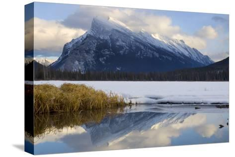 Mount Rundle and Vermillion Lake in Banff National Park-Paul Colangelo-Stretched Canvas Print