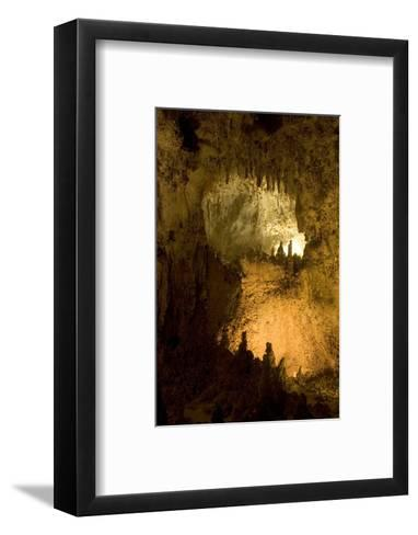 Entrance of a Small Room in Carlsbad Caverns National Park-Phil Schermeister-Framed Art Print