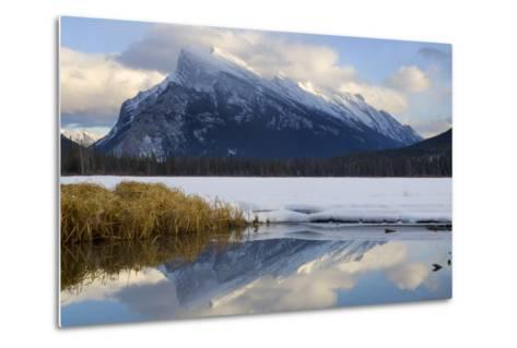 Mount Rundle and Vermillion Lake in Banff National Park-Paul Colangelo-Metal Print
