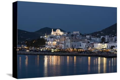 A View of the Village of Parikia at Dusk-Sergio Pitamitz-Stretched Canvas Print