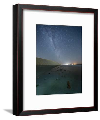 The Stars and Milky Way over the Dunes in Jericoacoara, Brazil-Alex Saberi-Framed Art Print