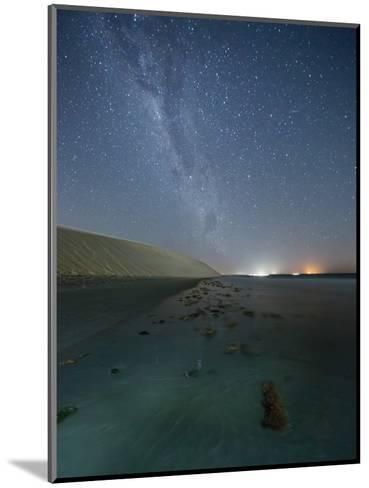 The Stars and Milky Way over the Dunes in Jericoacoara, Brazil-Alex Saberi-Mounted Photographic Print